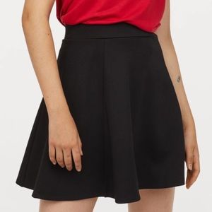 Black Knit Skater Skirt by H&M Divided (Size L)